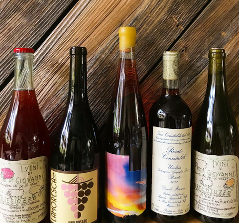 Natural Wine Bottle Pic at Field and Vine Boston