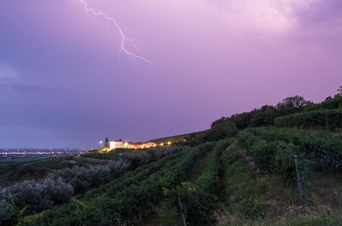 Il Monte Caro during Thunderstorm