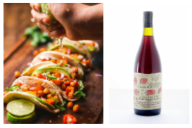 Tacos and natural wine