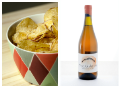 crisps and natural wine