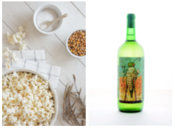 popcorn and natural wine
