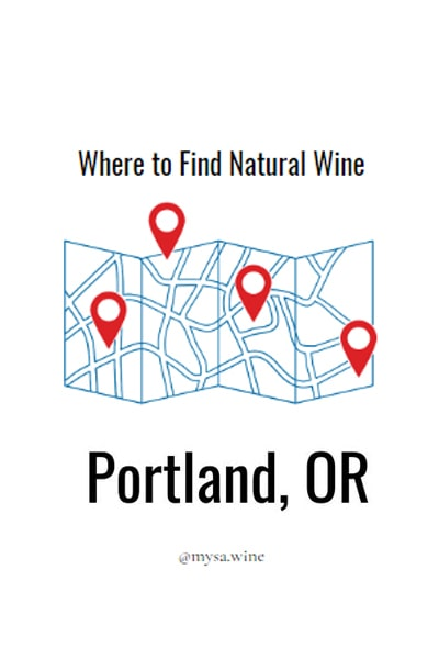 Where to Find Natural Wine Portland Pin