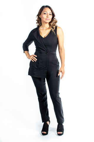 The Crystal-O Black Jumpsuit