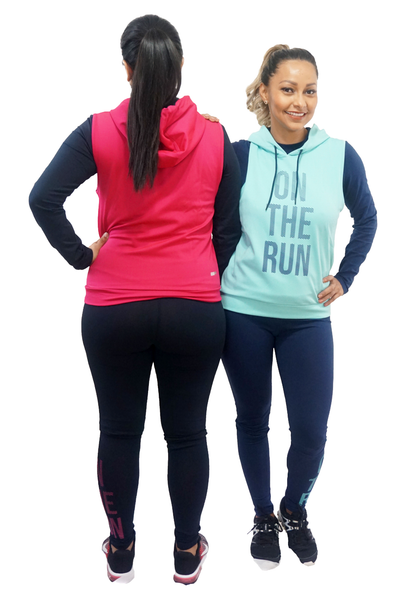 On the Run Hot Pink and Black 3-Piece Activewear Set