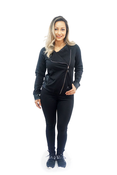 The Yari Black Two-Piece Athleisure Set