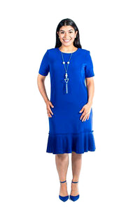 Plus-Size Royal Blue Shift Dress (Zippy)