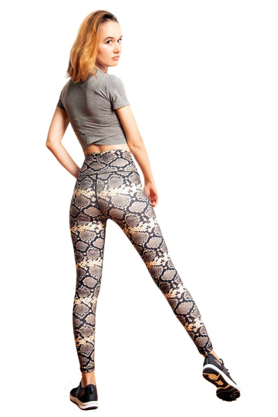 Snake Print High Waisted Workout Leggings