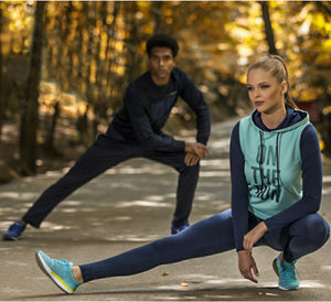 On the Run Icy Blue and Navy 3-Piece Activewear Set