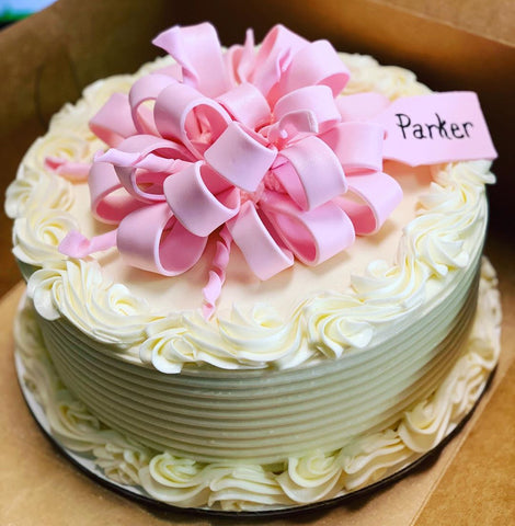 Bow Cake with Tag