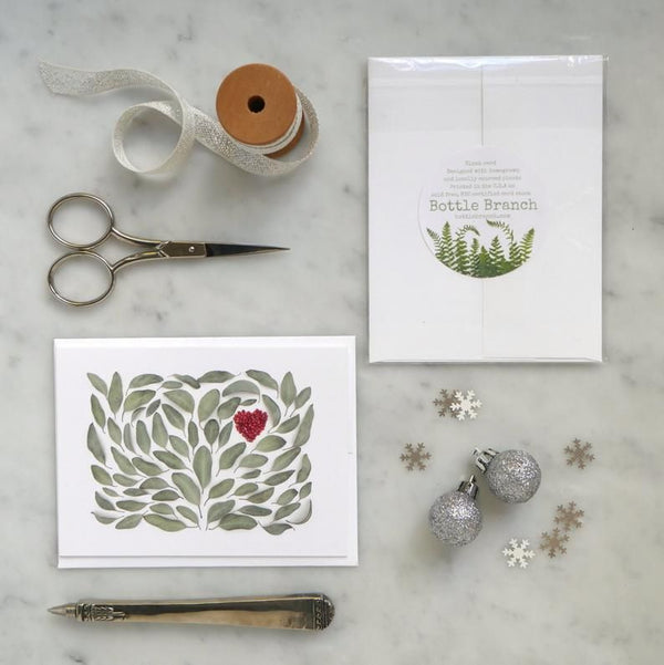 Botanical Heart Greeting Card