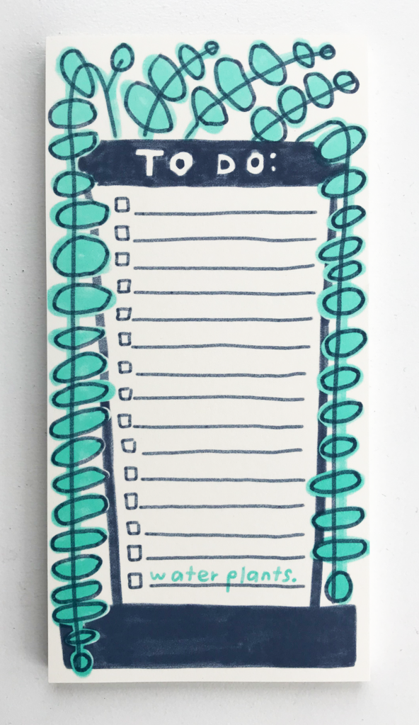 To Do List Water Plants - Notepad with Magnet Back