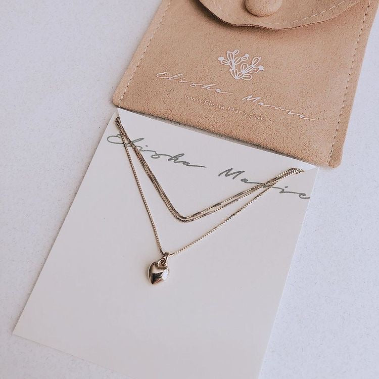 Tiny Heart Gold Necklace