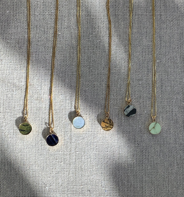 Circle Gemstone Necklace