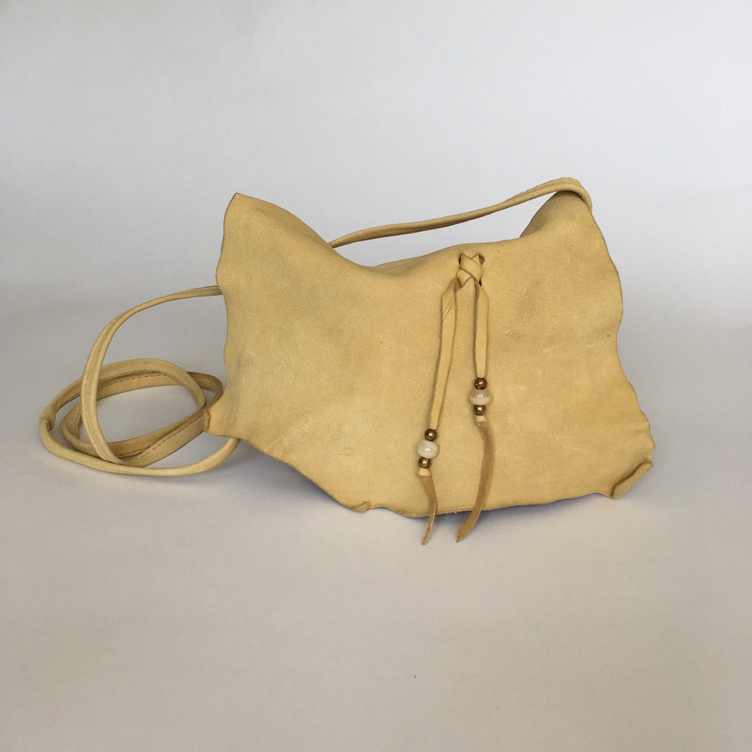 Vintage Leather Boho Crossbody Purse
