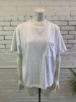 Vintage Embroidered White T-Shirt (M, L, XL)