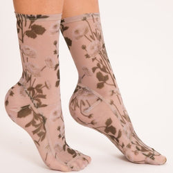 Wildflower Mesh Socks