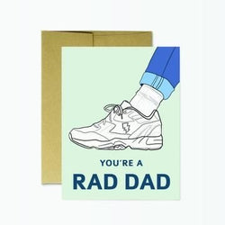 Rad Dad Sneaker Card