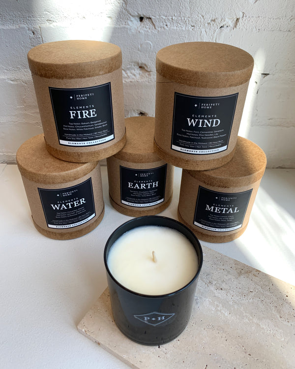 Elements Soy Candle - Water, Wind, Fire, Earth, Metal