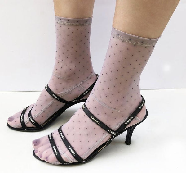 Mini Dots Mesh Socks