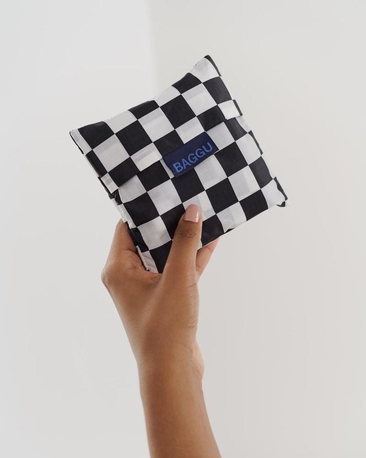Baggu Reusable Bag - Black Checkerboard