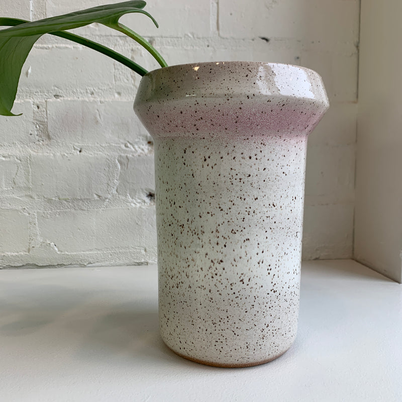 Long Neck Wing Vase - Soft Orange & Blush Pink