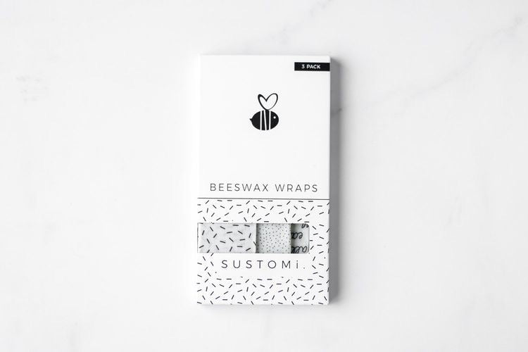 Beeswax Wraps - 3 Pack - Monochrome