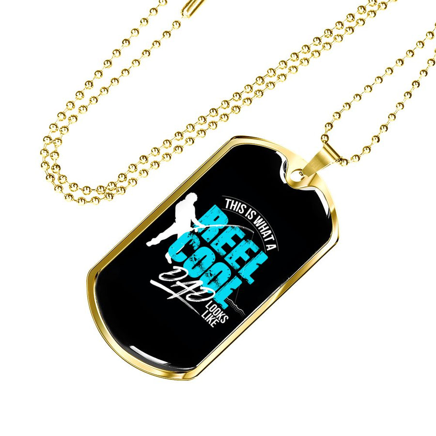 Reel Cool Dad - Luxury Military Dog Tag