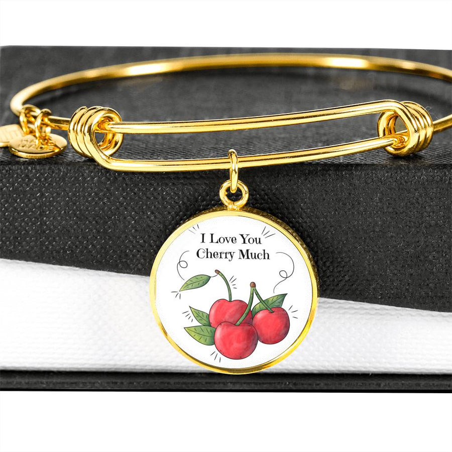 I love you Cherry Much - Circle Bangle