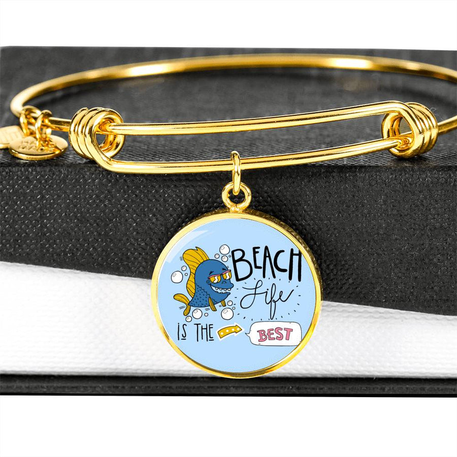 Beach Life is the Best - Circle Bangle