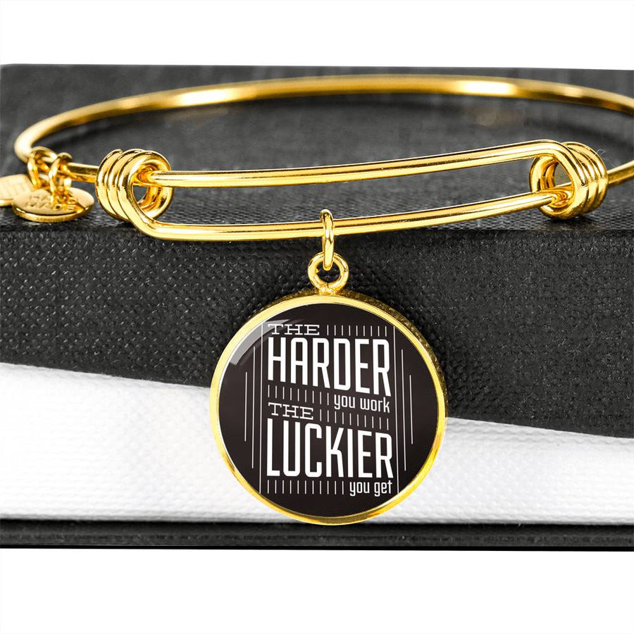 The Luckier you get - Circle Bangle