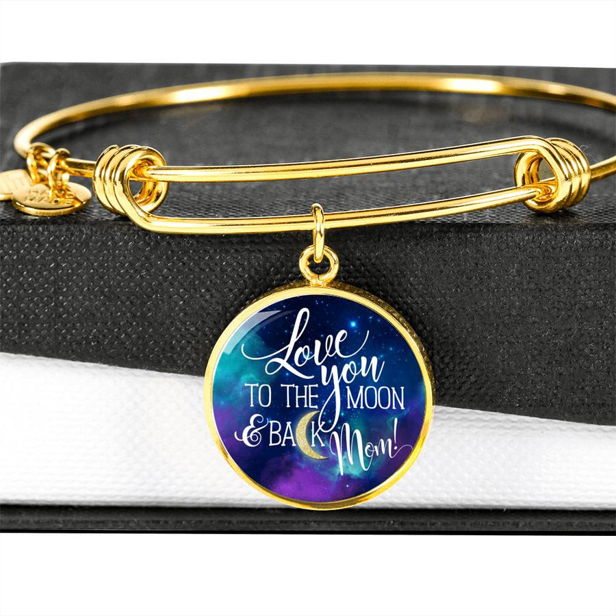 Love you to the Moon and Back - Circle Bangle