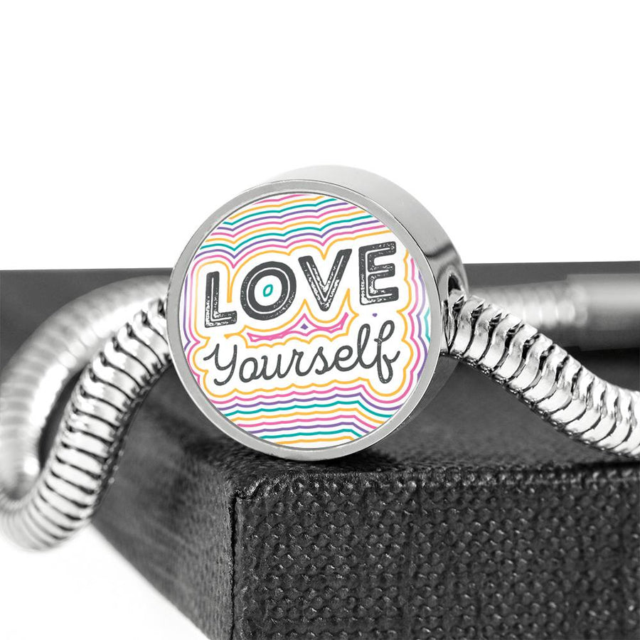 Love Yourself - Steel Bracelet