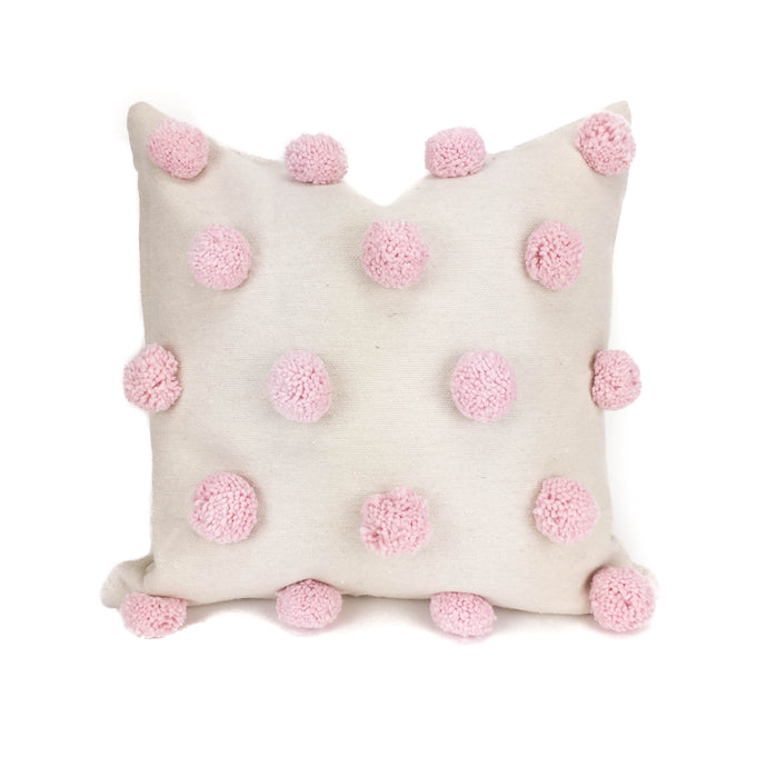 Ziri Pillow Cover - Neutral and Pink