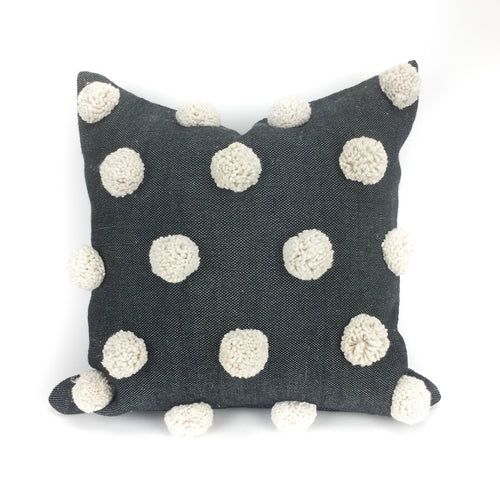 Ziri Pillow Cover - Black and Ivory