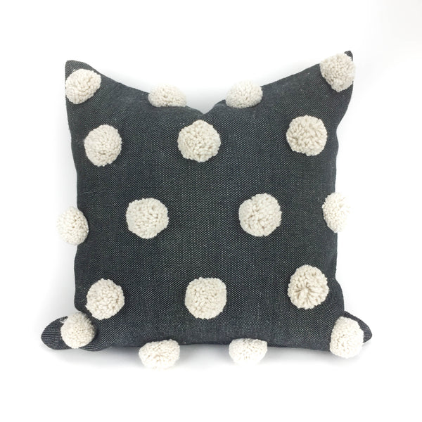Ziri Pillow Cover - Black and Ivory - Heddle & Lamm