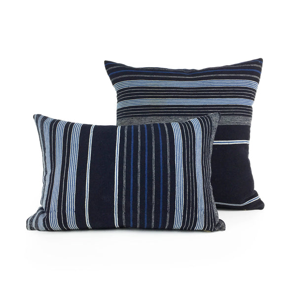 Adaego: Striped Mini Lumbar African Throw Pillow featured by top US sustainable home decor online store, Heddle & Lamm