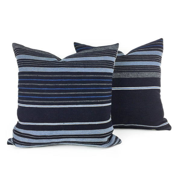 Adaego: Striped African Throw Pillow featured by top US sustainable home decor online store, Heddle & Lamm
