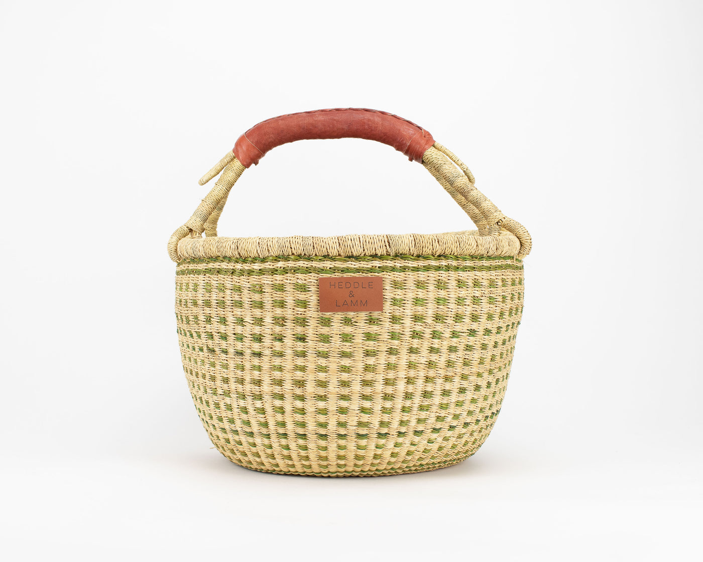 Jaha Bolga Basket - Brown Handle