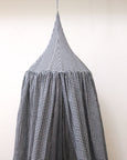 Kids Bed Canopy - Black and Ivory Gingham Pattern - Heddle & Lamm