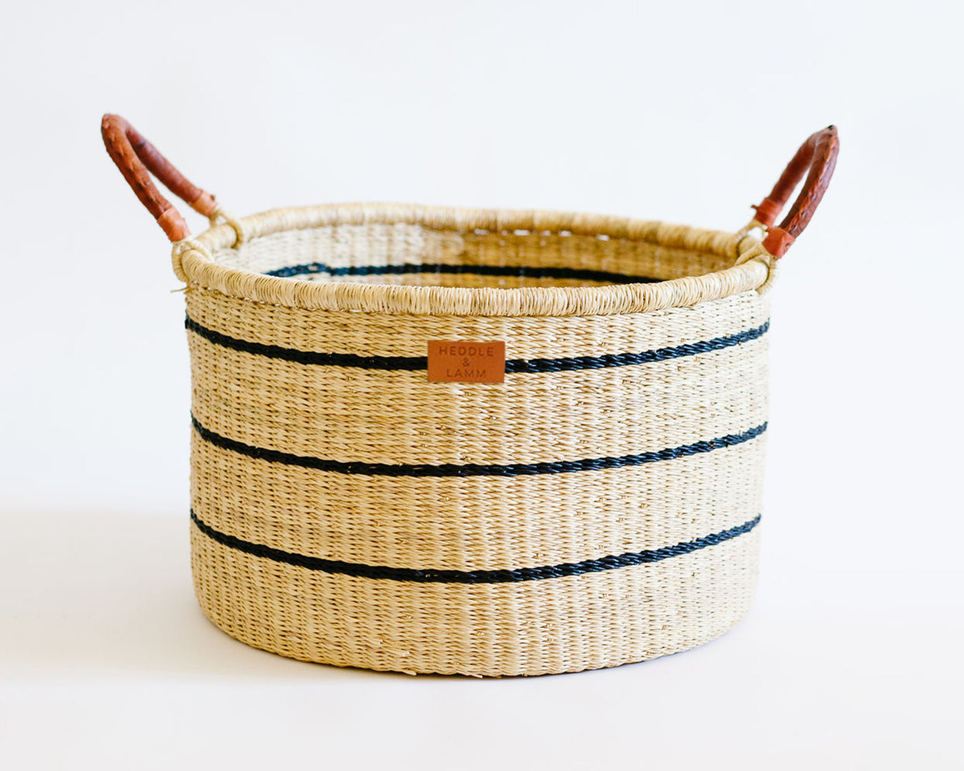 Babi Basket with Handles - Stripe - Heddle & Lamm
