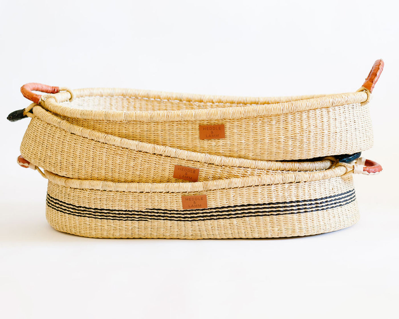 Tuako Changing Basket - Stripe - Heddle & Lamm