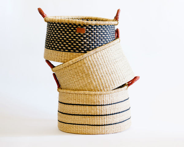 Esi Basket with Handles - Dot - Heddle & Lamm