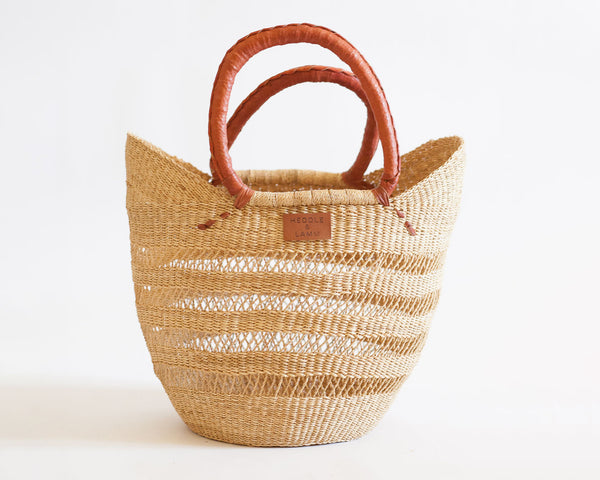 Zera Open Work Shopper Basket - Heddle & Lamm