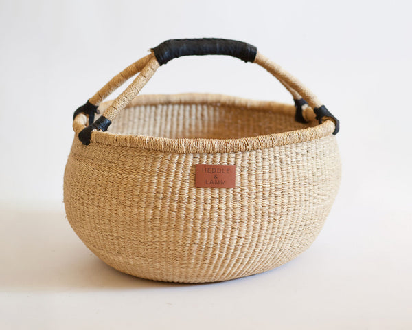 Kandiga Bolga Basket - Black Handle - Heddle & Lamm