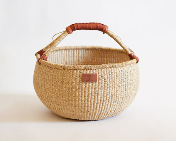 Kandiga Bolga Basket - Brown Handle