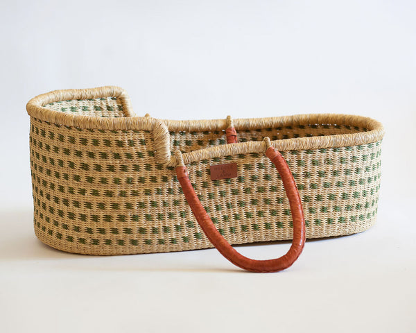 Kojo Moses basket - Green Dot - Heddle & Lamm