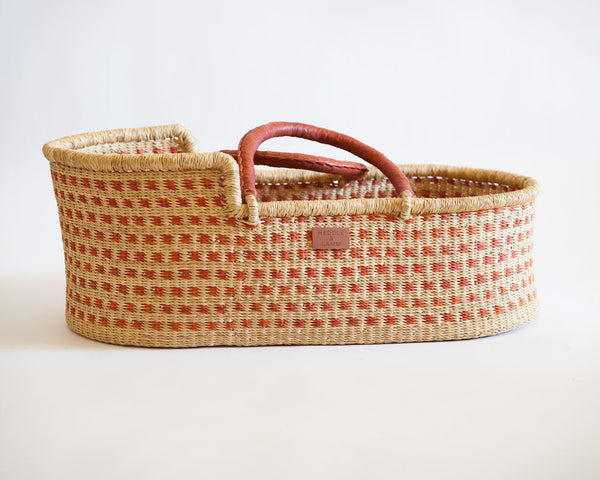 Kojo Moses Basket -  Rust Dot