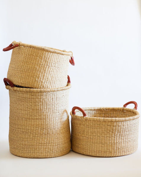 Kwasi Short Hamper Basket with Handles