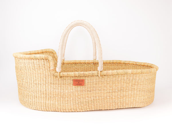 Pelu Moses Basket - Natural Handle - Heddle & Lamm
