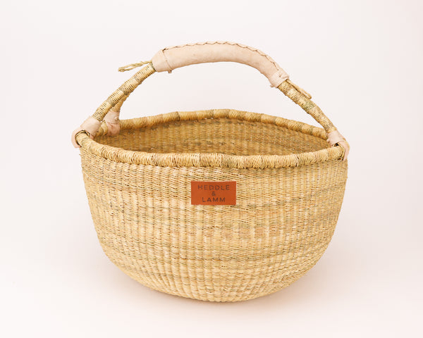Kandiga Bolga Basket - Natural Handle - Heddle & Lamm